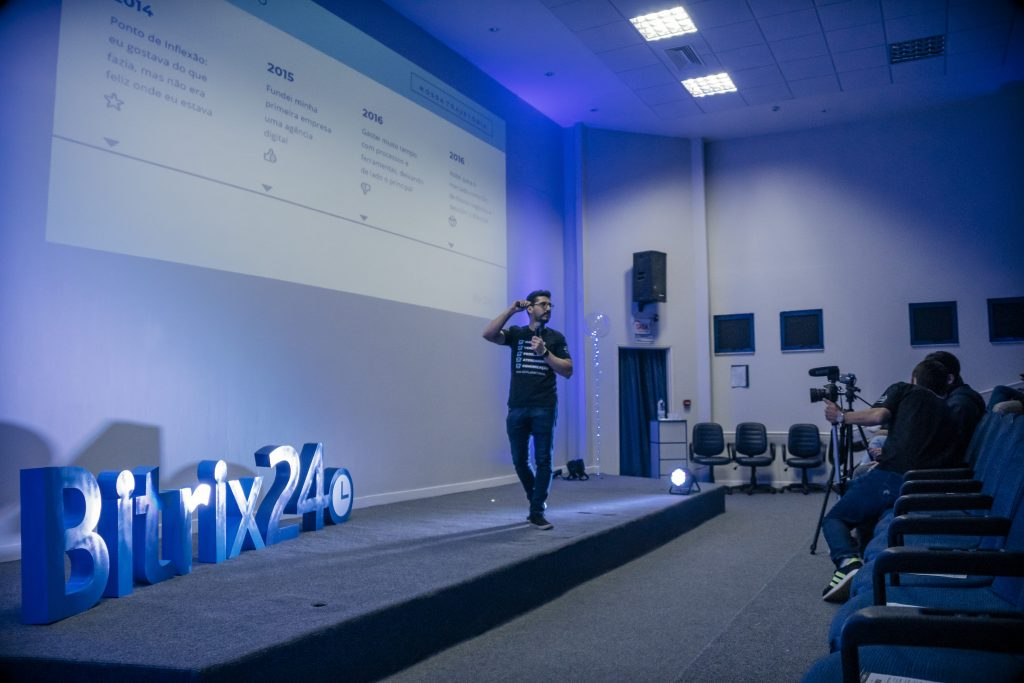 Filipe Bento, CEO da Br24 no 1° Bitrix24 Tour.